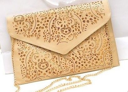 Free shipping!2014 vintage national women's trend handbag cutout envelope bag shoulder cross-body bag day clutch bag € 7,33