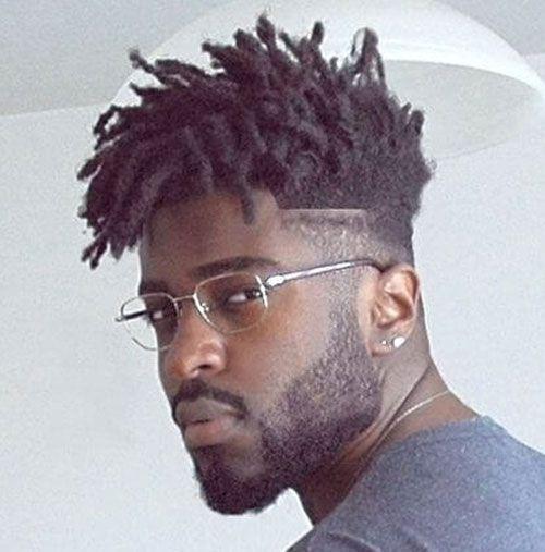 Negro Cabello Hombres - Mediados de fundido con teme