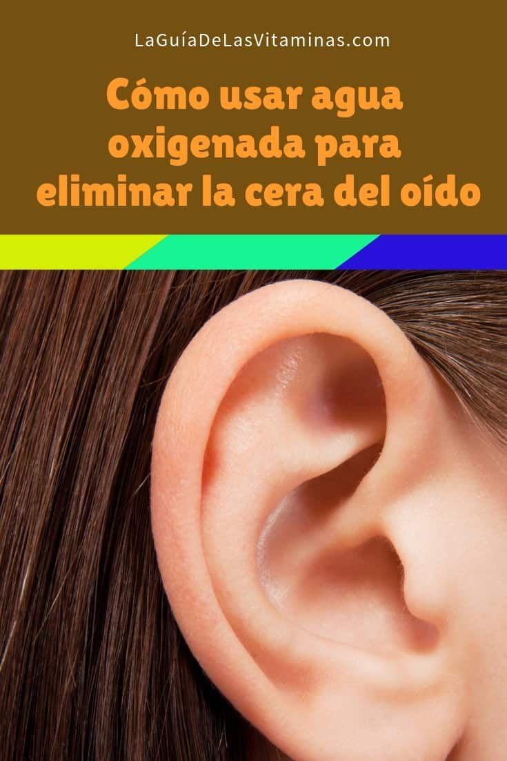 cera en los oidos agua oxigenada