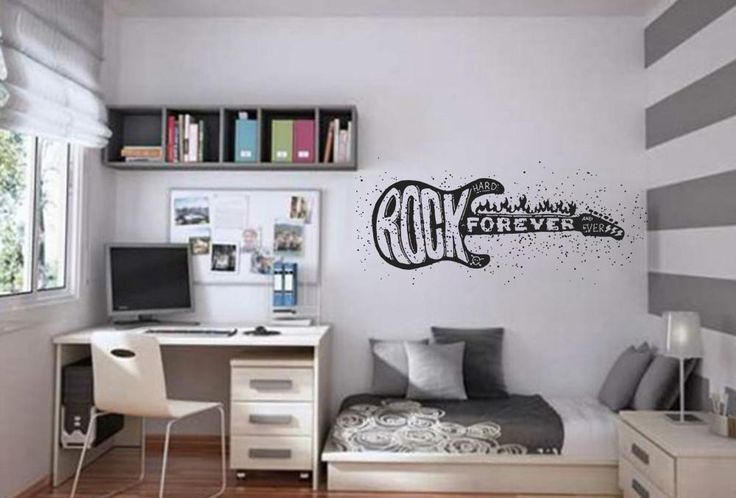ik811 Wall Decal electric bass guitar star music song artist rock forever