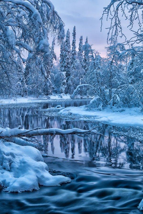 ❄A MidWinter's Night's Dream❄...Polar Night River, Finland... By Artist Jari Johnsson, on 500px...