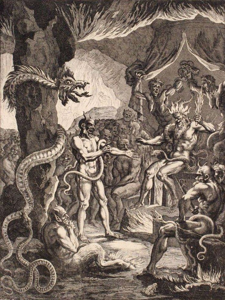 Lucifer and His Commanders in Hell ~ by François Chauveau…