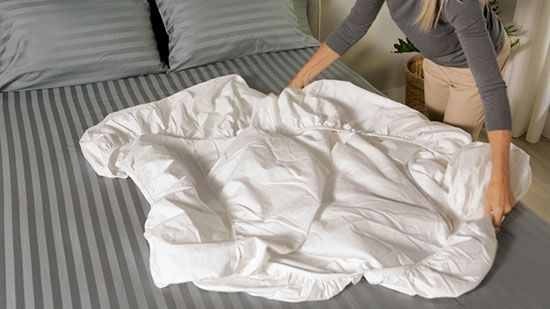We'll walk you through the steps to fold a fitted sheet, plus show you how to store linens in a neat and tidy folded package.