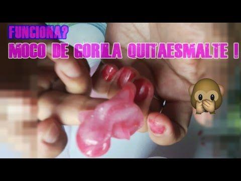 MOCO DE GORILA QUITAESMALTE? FUNCIONA? ! SLIME | PROBANDO EXPERIMENTOS C...