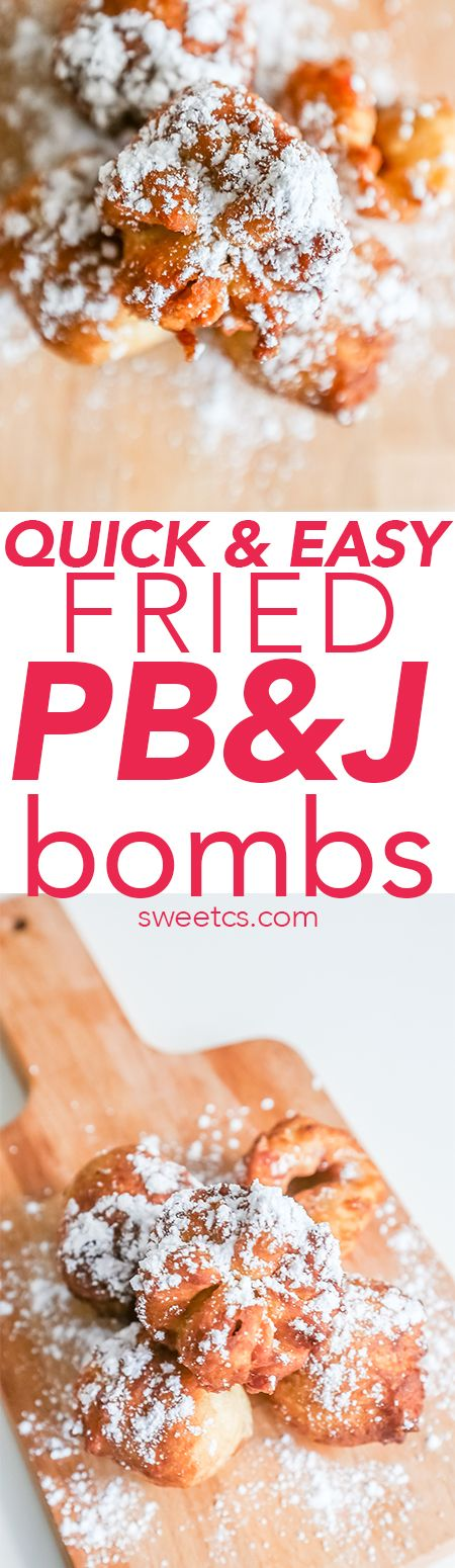 Easy fried peanut butter jelly bombs- these are so tasty and delicious!