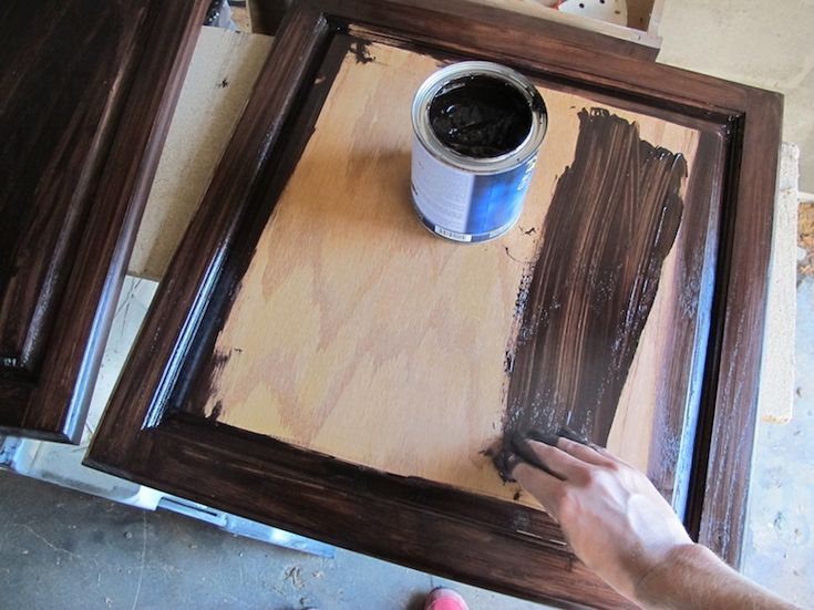 staining the cabinets with java gel stain by general finishes - Cabinet Stain