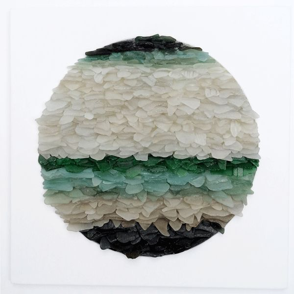No35, Sea Glass & Wood, 450mm X 450mm, SOLD.