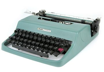 Olivetti Lettera 32 (c. 1963): Many, many years ago Dad had an Olivetti very similar to this one. It was light weight and well made, performed flawlessly and was so pleasing because I could see exactly how it worked.