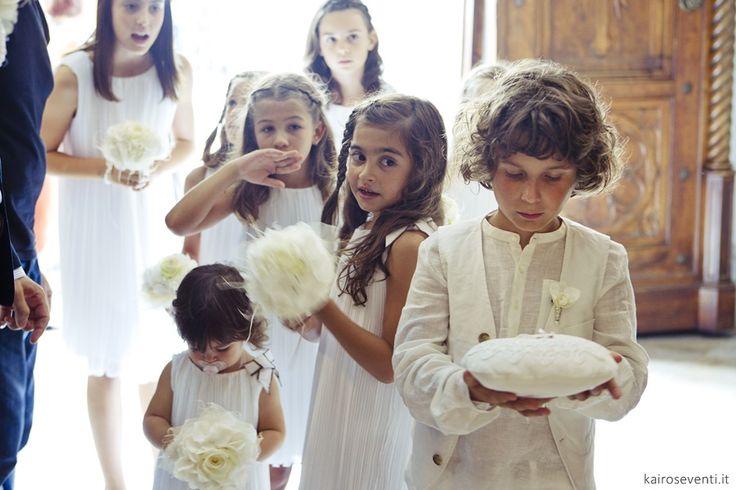 Damigelle e paggetti | Wedding designer & planner Monia Re - www.moniare.com | Organizzazione e pianificazione Kairòs Eventi -www.kairoseventi.it | Foto Oscar Bernelli