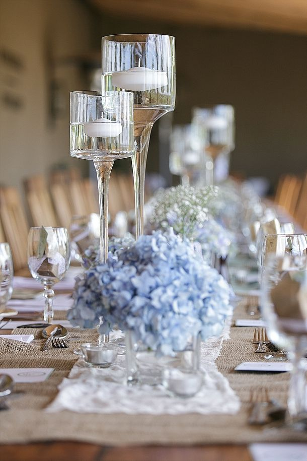 Blue Hydrangea Wedding | SouthBound Bride www.southboundbride.com/blue-hydrangea-wedding-by-leanne-love-nikki-lloyd  Credit: Leanne Love