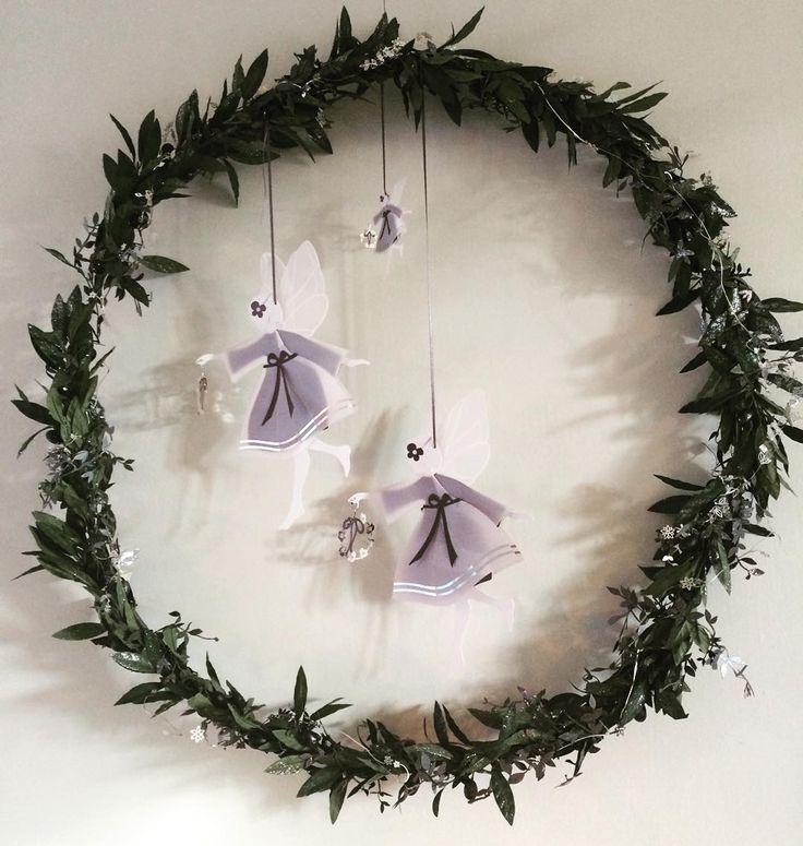 Hang the Fairies in a wreath