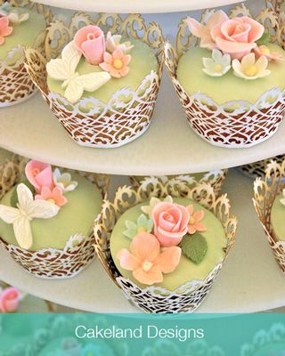 spring wedding cupcake ideas - Google Search