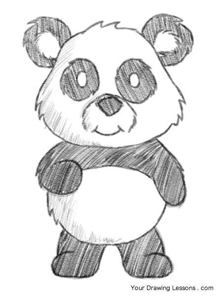 die besten 25 panda zeichnung ideen auf pinterest. Black Bedroom Furniture Sets. Home Design Ideas