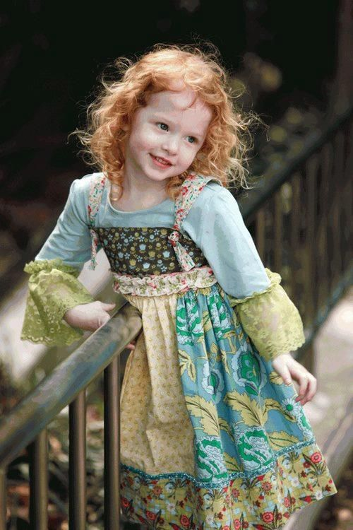 would love to have my youngest son little girl to have his curls ( reddish )