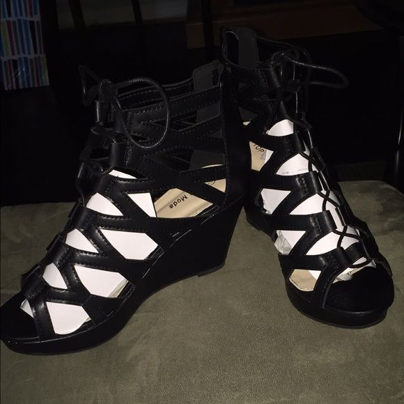 Top Moda black wedges 10 Top Moda black wedges. Brand new in box. Size 10 Shoes Wedges