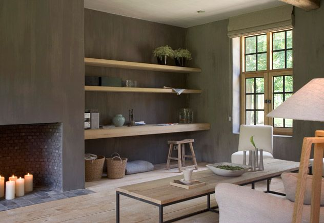 contemporary rustic living - perfect to adapt to the living room idea I have in mind!