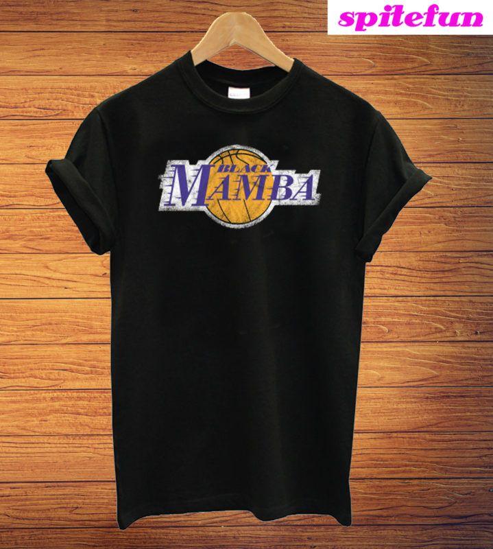 Vintage Kobe Bryant Black Mamba T Shirt In 2020 Kobe Bryant Black Mamba Shirts Print Clothes