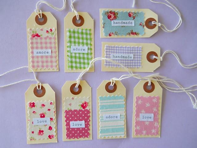Pretty Fabric Scrap Gift Tags