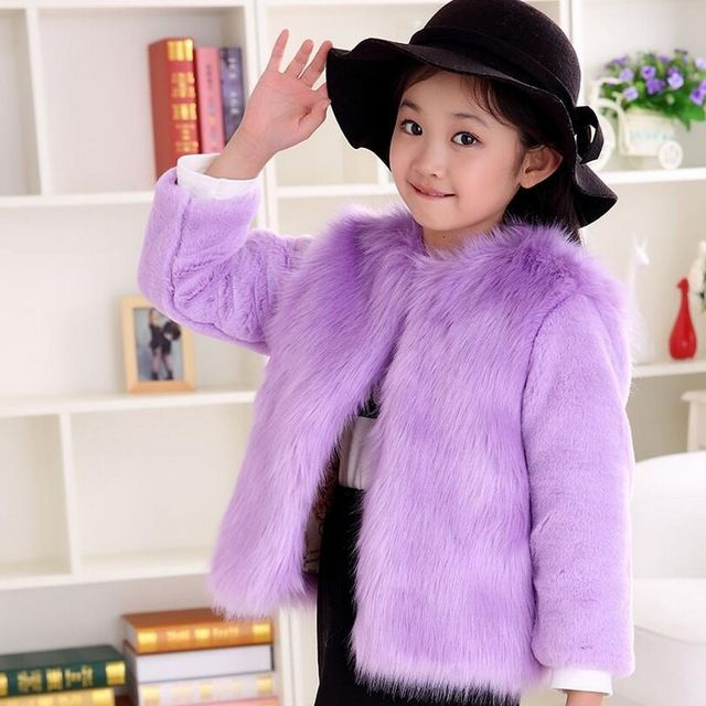 New 2016 Girls cute faux fox fur coat Pink o-neck jacket Slim luxury outerwear Children baby plush overcoats Fall winter clothes US $69.00 /piece Specifics Outerwear Type	Wool & Blends Clothing Length	Regular Sleeve Style	Regular Pattern Type	Solid Brand Name	Cute Children faux fox fur coats Closure Type	Covered Button Gender	Girls Style	Princess style outerwear Material	Cashmere,Wool Fabric Type	Worsted Collar	O-Neck Sleeve Length	Full  Click to Buy :http://goo.gl/t9O329