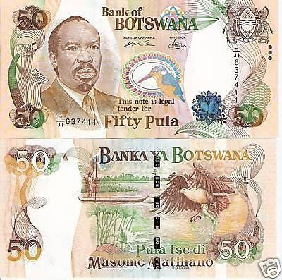 Botswana 50 Pula Banknote. Great price and free shipping. Get yours at http://zimbabwecurrencycollectibles.com/