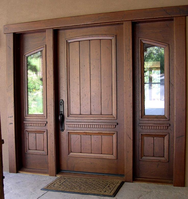 Best 25 solid wood front doors ideas on pinterest wood for Front door with opening window