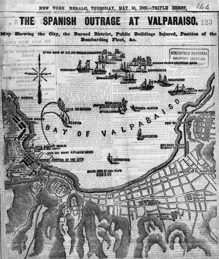 https://flic.kr/p/g8RwKS | 1866. Valparaíso Antiguo. | Bahía de Valparaíso según cartografía del siglo XIX.