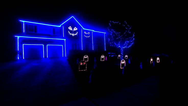"The 2013 Halloween House Light Show Dog say Woof, Cat go meow but  ""What does the Fox say""?"