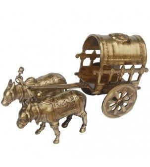 AakratiBrass bullock cart for decoration purpose