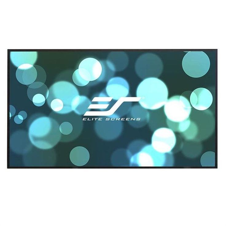 """Elite Screens Aeon, 120-inch 16:9, Ambient Light Rejecting ALR Fixed Frame EDGE FREE Projection Projector Screen, AR120DHD3. 120-inch Diagonal, 16:9 Aspect Ratio. View Size: 58.3"""" H x 104.1"""" W. Overall Size: 59.1"""" H x 104.9"""" W. Screen Material: CineGrey 3D, 1.2 Gain. Angular-reflective material with ambient light rejecting technology. ISF Certified, polarized for Passive 3D, 4K Ultra HD & Active 3D Ready, 90 degree viewing angle. *Not Compatible with Ultra/Short Throw Projectors…"""
