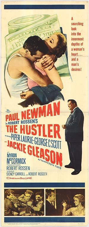 Best Film Posters : 1961 The Hustler  Paul Newman movies are always worth seeing again