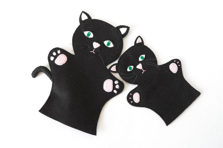 Cat puppets  - puppets for children, children toy, puppet theatre  - by FeltforAdults on Etsy https://www.etsy.com/listing/258047396/cat-puppets-puppets-for-children