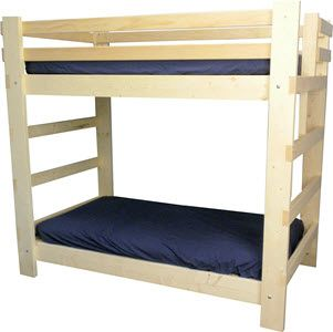 Bunk Beds & Triple Bunk Beds. Twin XL $449. Unfinished wood. Accessories available. collegebedlofts.com Teen & Adult loft & Bunk Beds