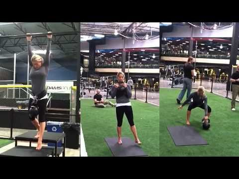 Senior RKC Karen Smith completing the Iron Maiden Challenge with 24kg kettlebell