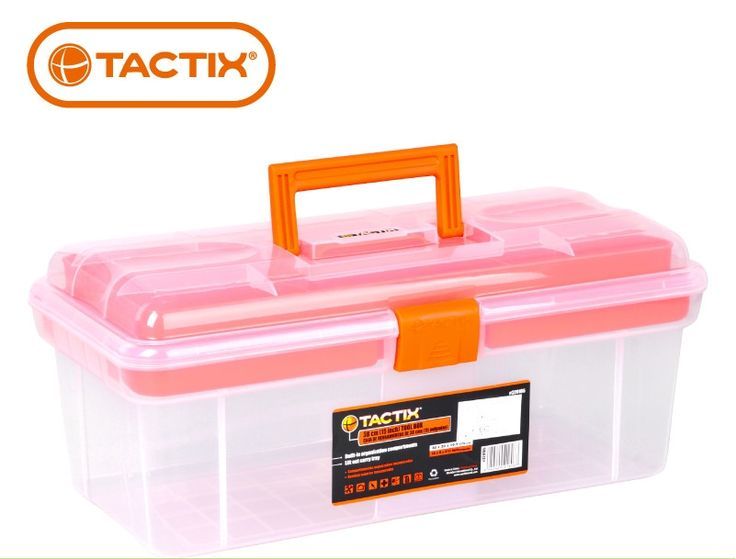 (33.79$)  Watch here  - TACTIX 15inch toolbox for household multi-purpose large plastic storage box  painting art toolbox