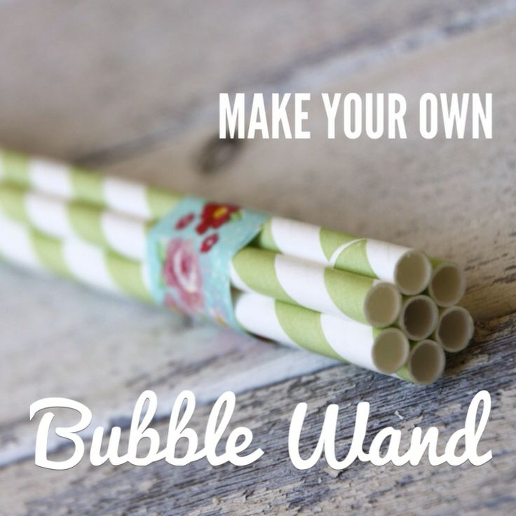 Make your own Bubble Wand. Simple fun for your kids!