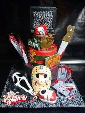 Cool horror cake