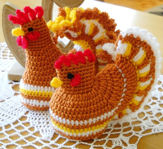 Crochet ROOSTER & HEN Egg Warmer Cosy Set Kitchen by MartaCarlin  ~ Item unavailable. Link correct when I checked on 04/09/2015