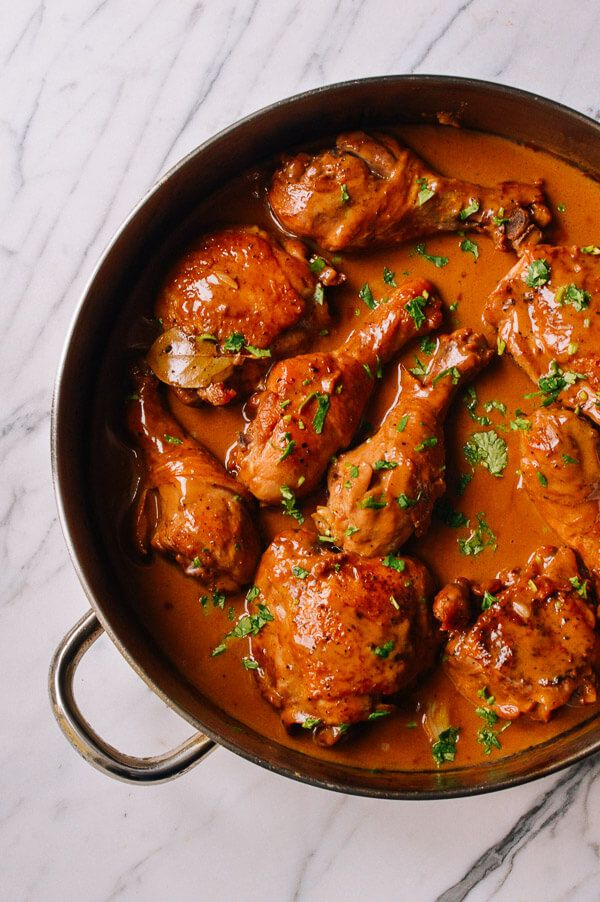 Chicken adobo is a Filipino recipe made with only a few ingredients. It's an easy one pot meal, and you won't believe how silky and flavorful the sauce is!