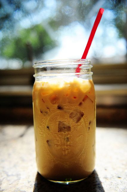 Pioneer Woman's Perfect Iced Coffee.  It really is perfection.: Ree Drummond, Pioneer Women Recipe, Conden Milk, Ice Coffee, Iced Coffee, Memorial Recipe Ice, Perfect Ice, Mason Jars, The Pioneer Women