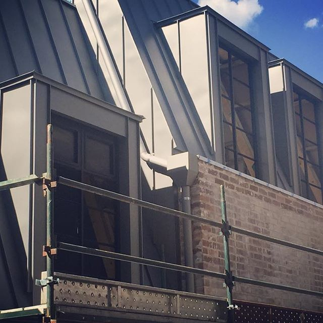 scaffold down & facade revealed at our Glebe site  #standingseamzinc #facade #steelwindows
