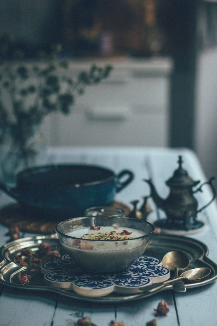 Creamy Persian Rice Pudding with Rose Water + Cardamom | Fereny, Firni