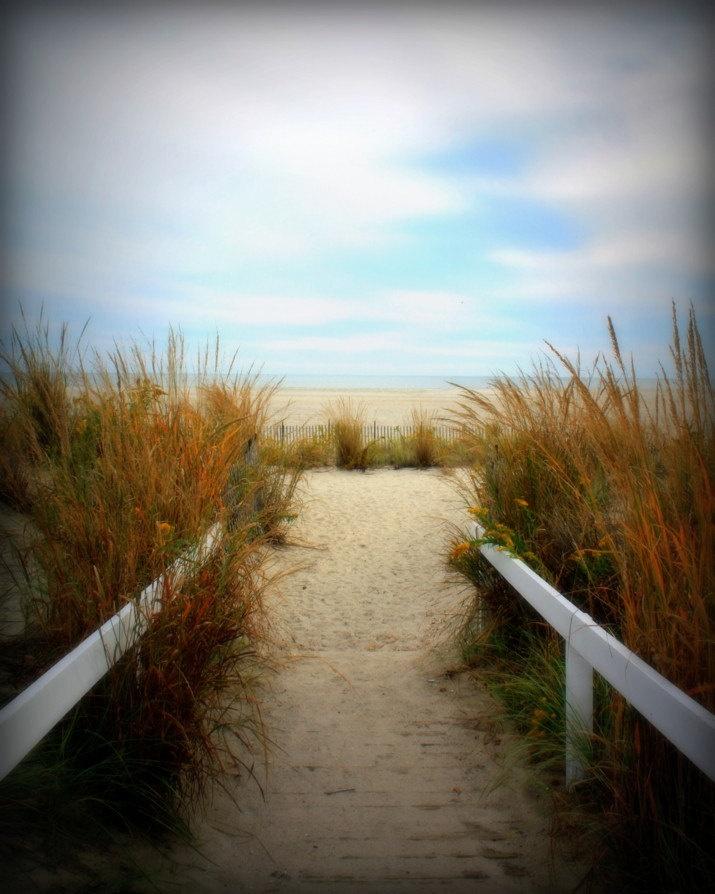 Autumn Beach Path