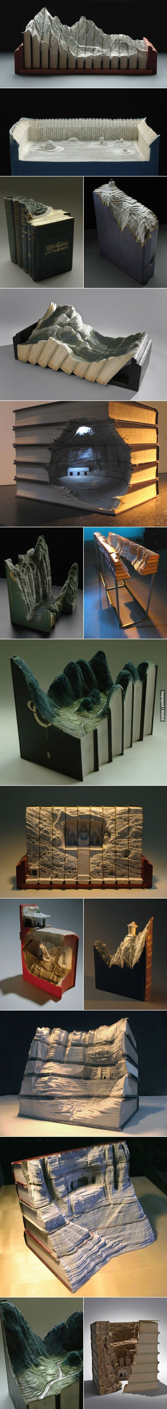Book Carvings by Guy Laramee