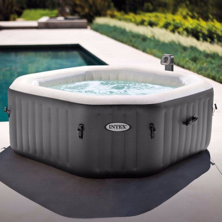 intex portable jacuzzi outdoor hot tub pool bubble jets person octagonal spa
