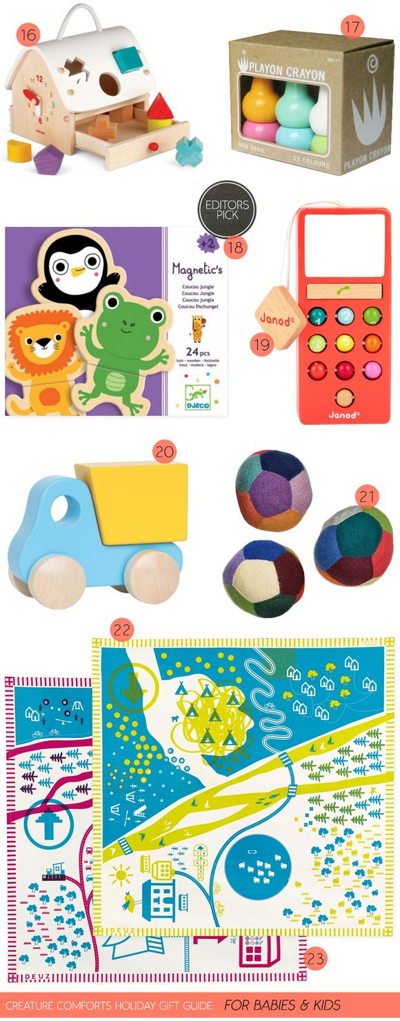 Creature Comforts Holiday Gift Guide: For Babies & Kids | Find all product links on Creature Comforts Blog