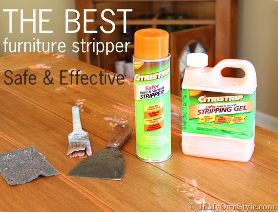 If you are going to strip furniture this is product to use.   It comes in a spray version, too  – which is great to use on vertical pieces with lots of grooves.