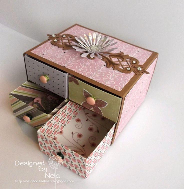Nelasbasteleien: Kleine Kommode mit dem Envelope Punch Board - Tutorial