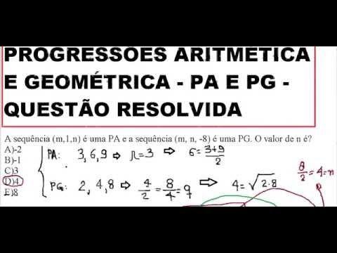 YouTube RaciocínioLógico Matemática PA e PG Sequênciasnuméricas Progressãoaritmética estatístIca MATH  #CEFETMG   https://youtu.be/iI5GurPD7Ks