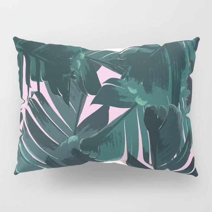 Green Pillow Sham Set, Banana Leaf Pillow Case, Tropical Bedroom Coastal Decor, Standard Sham, King Sham, Tropical Pillowcase, Green Bedding by OlaHolaHolaBaby on Etsy