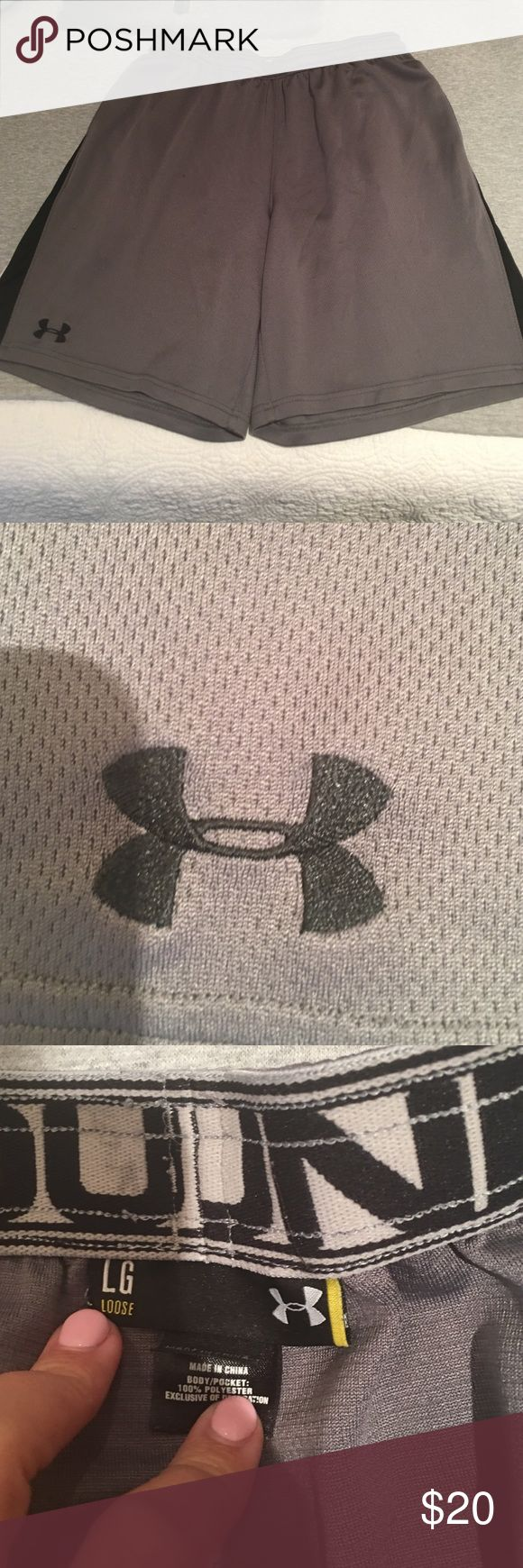 UNDER ARMOUR GRAY ATHLETIC SHORTS UNDER ARMOUR GRAY ATHLETIC SHORTS Under Armour Shorts Athletic